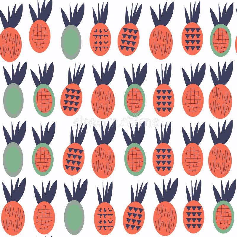 El extracto inconsútil de las piñas da fruto zueco Está situado en la SWA stock de ilustración