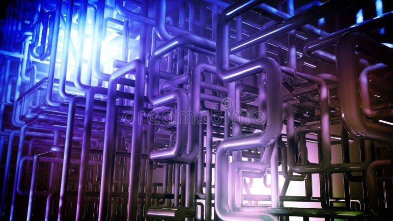 El extracto instala tubos el fondo libre illustration