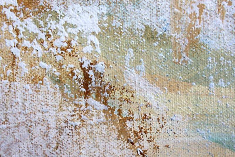 El extracto macro Art Background Rainbow Colored Tie del fondo de la lona del Grunge te?i? la tela stock de ilustración