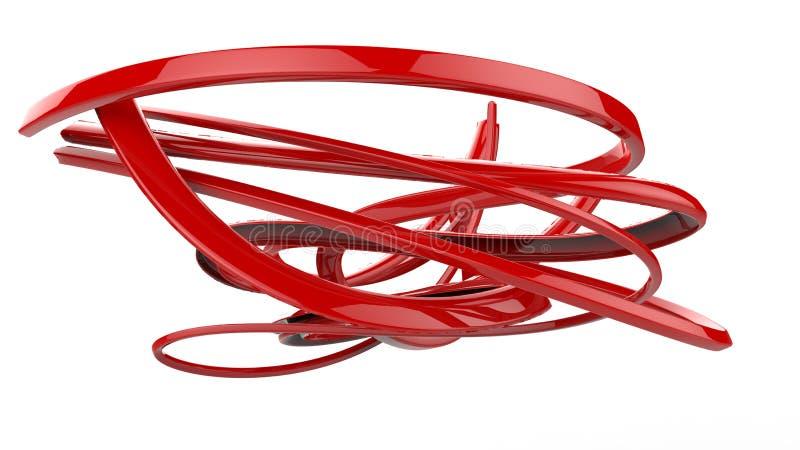 El extracto metálico 3d alinea y los barridos libre illustration