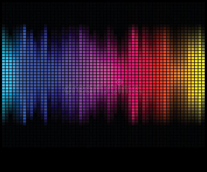 El extracto multicolor enciende el fondo del disco ilustración del vector