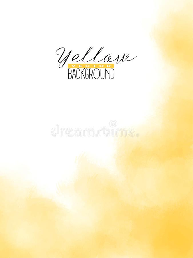 El extracto multiplica el fondo colorido de la acuarela en color amarillo ilustración del vector
