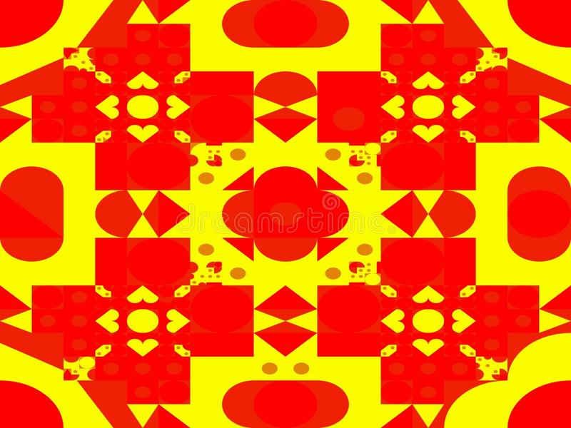 El extracto puntea el cuadrado de los triángulos y las formas geométricas de las figuras stock de ilustración