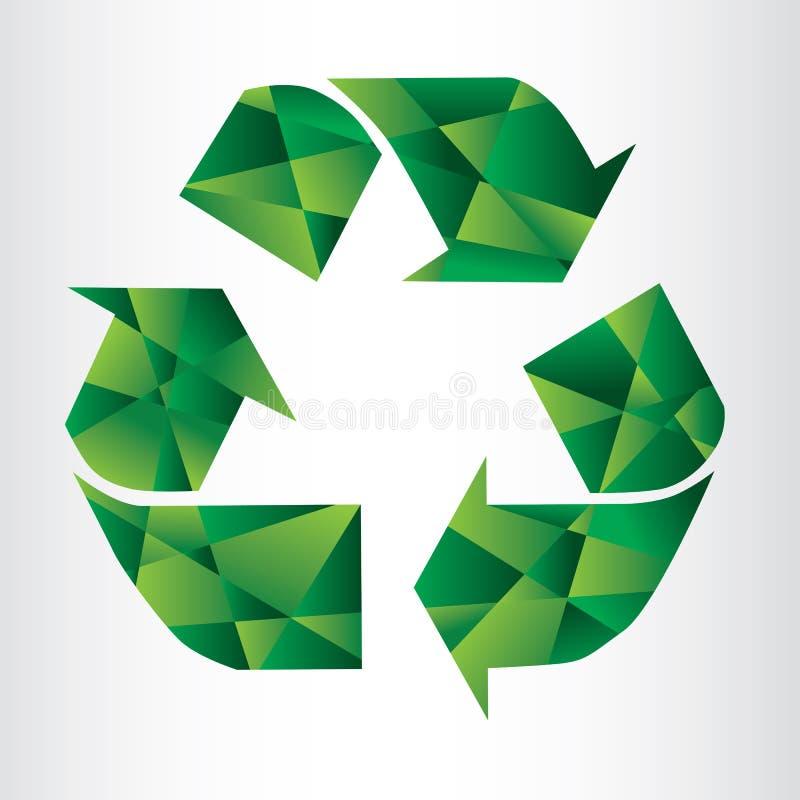 El extracto recicla la muestra ilustración del vector
