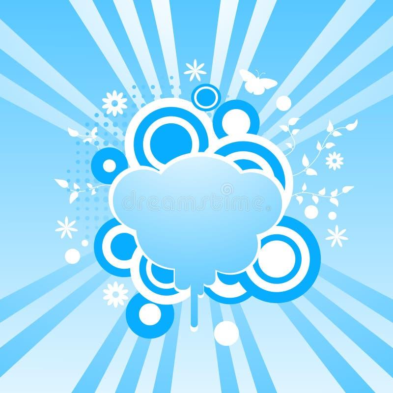 El extracto remolina fondo con el marco de la dimensión de una variable de la nube stock de ilustración