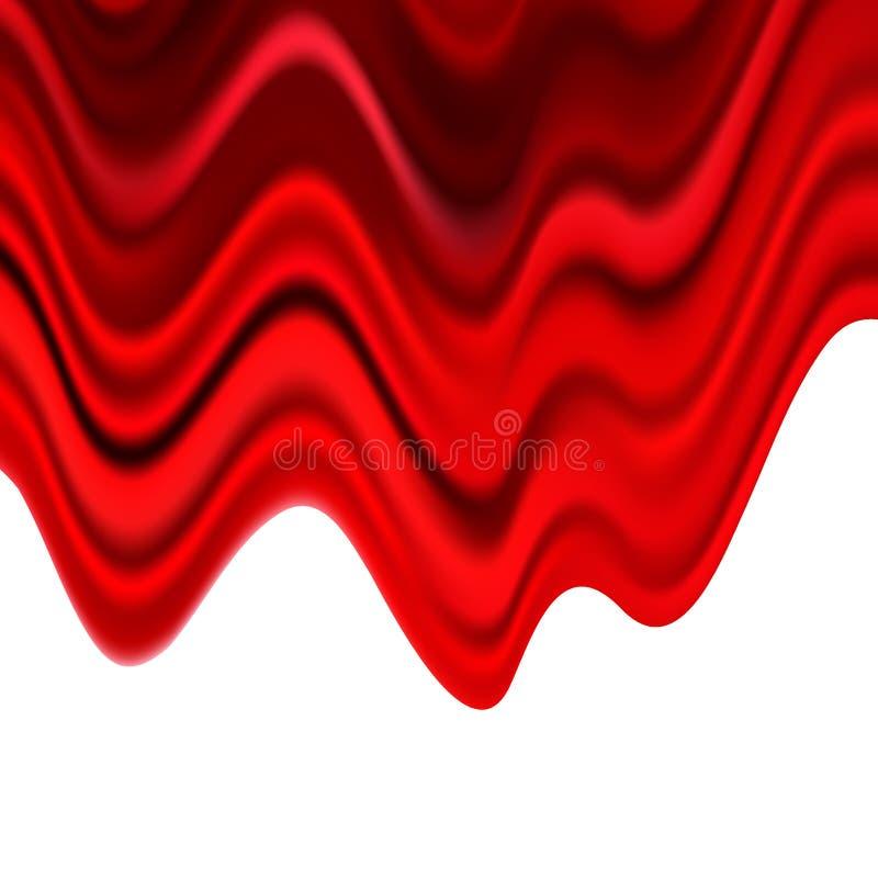 El extracto rojo del vector pintó el fondo del unto de la acuarela stock de ilustración