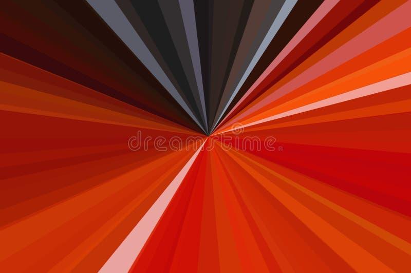 El extracto rojo irradia el fondo Modelo colorido del haz de las rayas Colores modernos de la tendencia del ejemplo elegante libre illustration