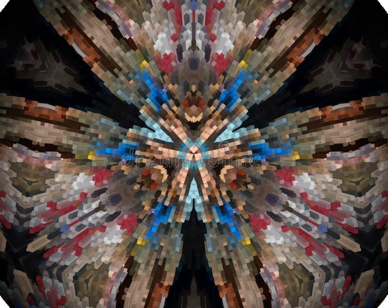 El extracto sacó ejemplo de la mandala 3D libre illustration