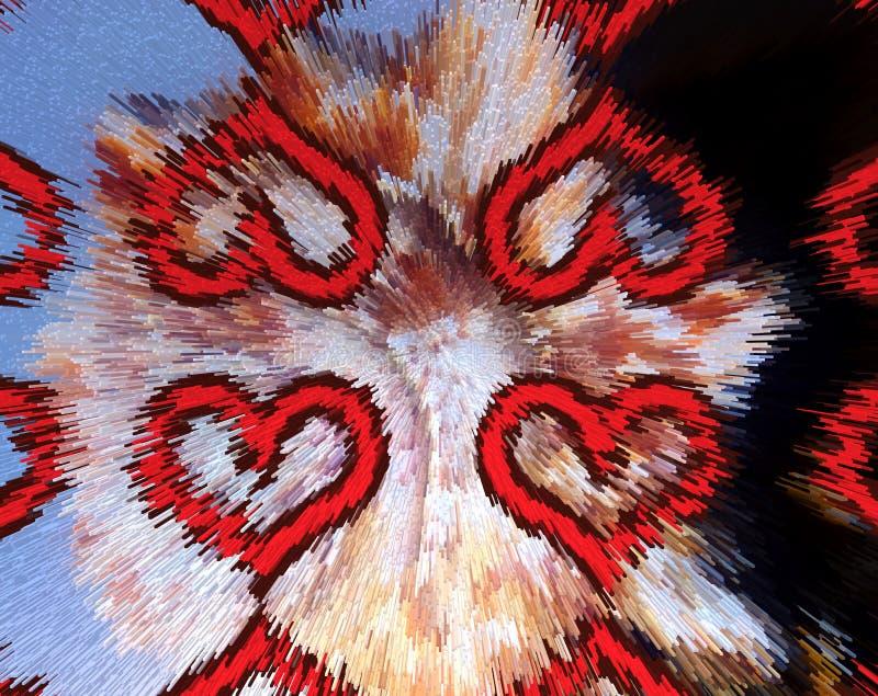 El extracto sacó ejemplo de los corazones 3D del amor stock de ilustración