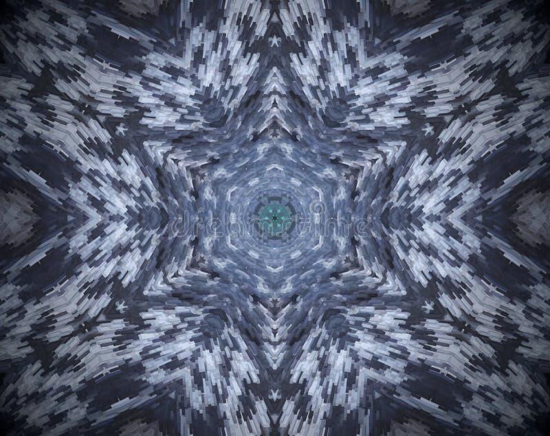 El extracto sacó mandala ilustración del vector