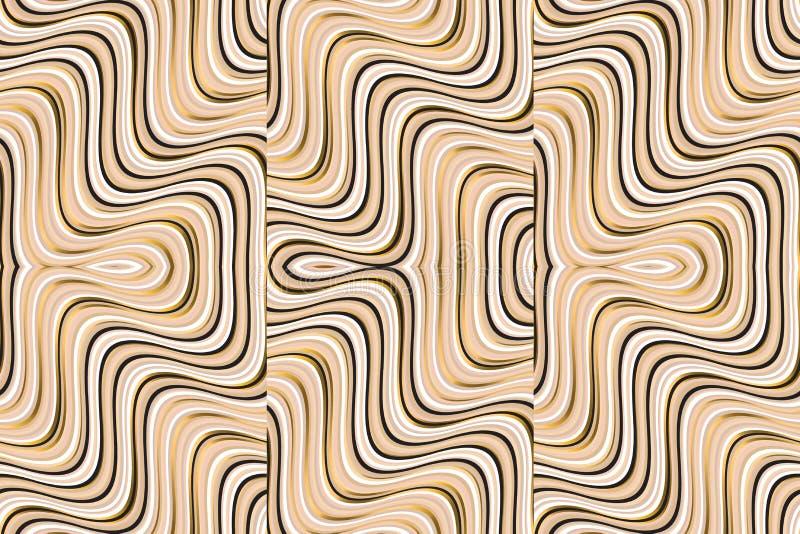 El extracto texturizado agita el modelo inconsútil geométrico ilustración del vector