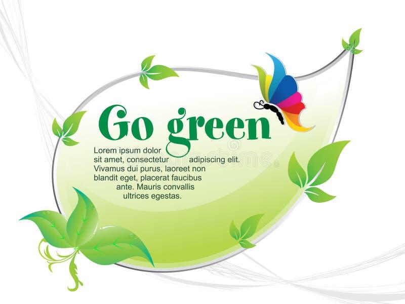 El extracto va fondo verde stock de ilustración