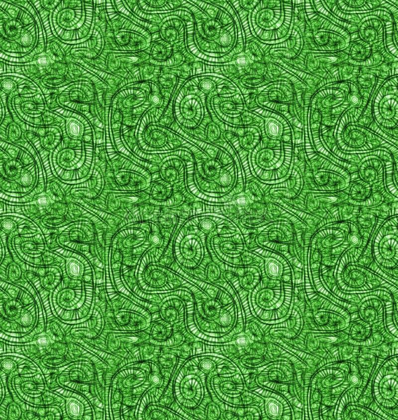 El extracto vetea el fondo inconsútil de la naturaleza verde stock de ilustración