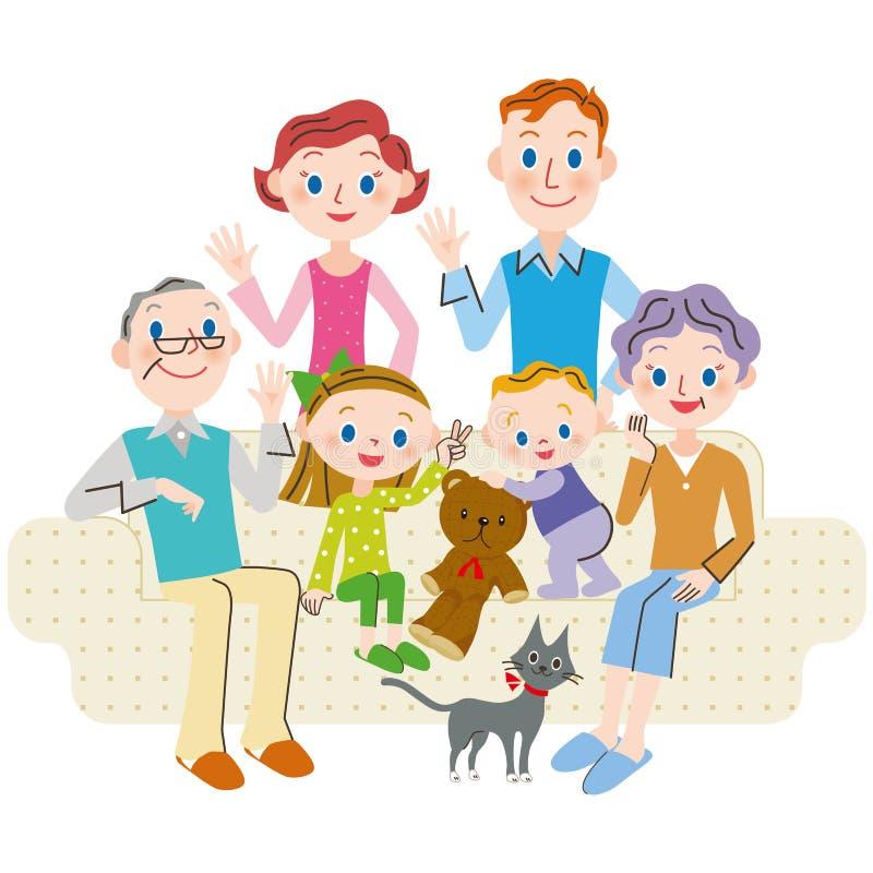 El extranjero vivo de la familia de la tercera generación libre illustration