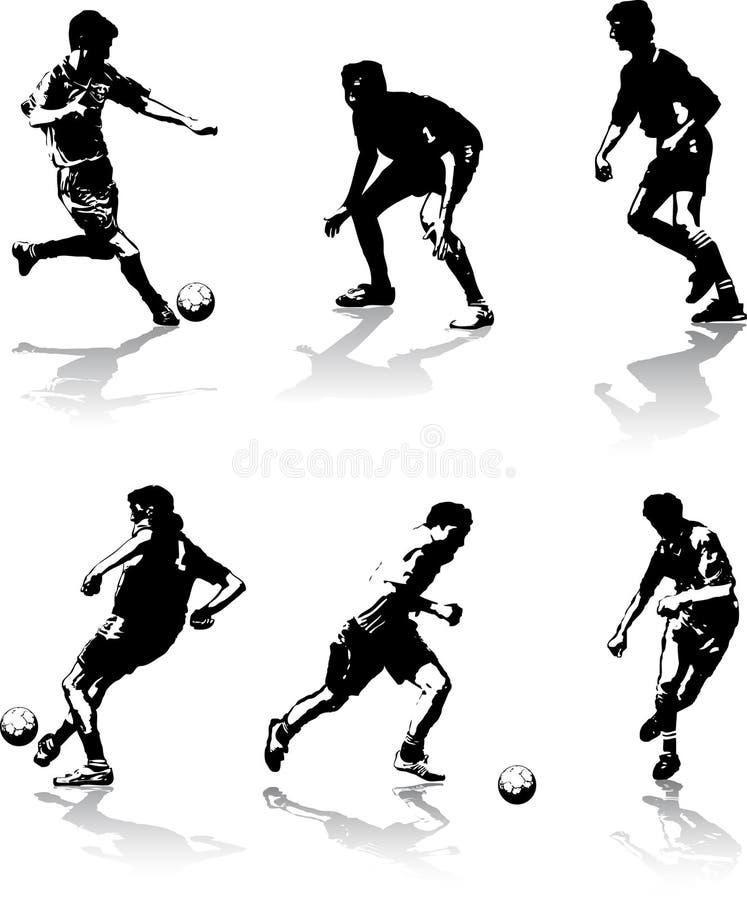 El fútbol calcula figuras stock de ilustración