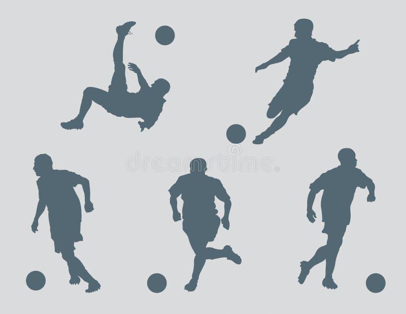 El fútbol calcula vector stock de ilustración