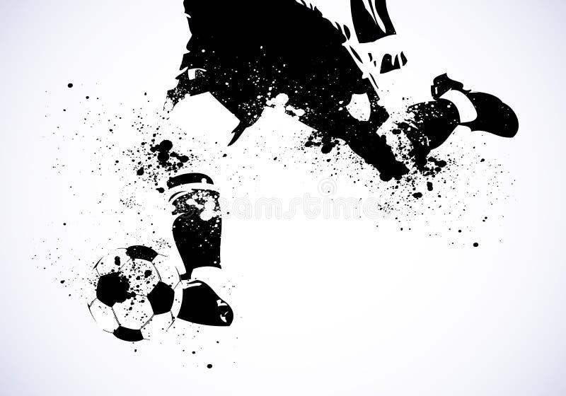 El fútbol de Grunge va a tirar stock de ilustración