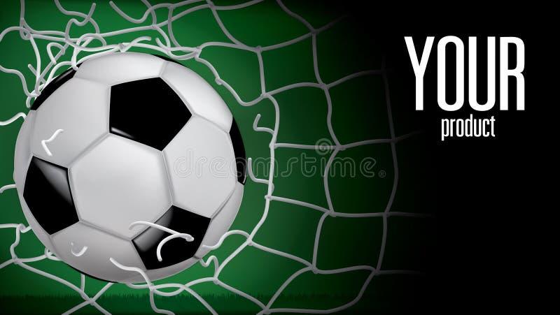 El fútbol que subía, balón de fútbol se elevó a través de la malla la falta dejado en desorden imagen de archivo