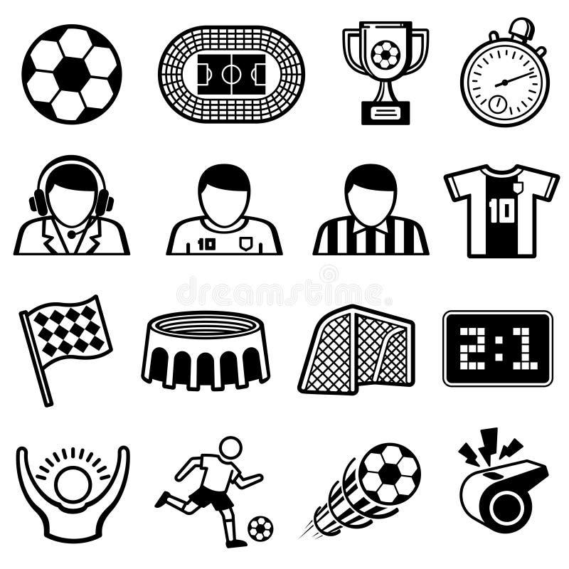 El fútbol se divierte iconos del vector Símbolos del equipo de fútbol libre illustration