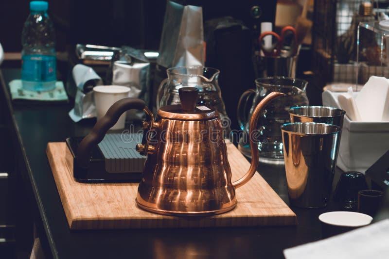 El fabricante de café no es moderno fotografía de archivo libre de regalías