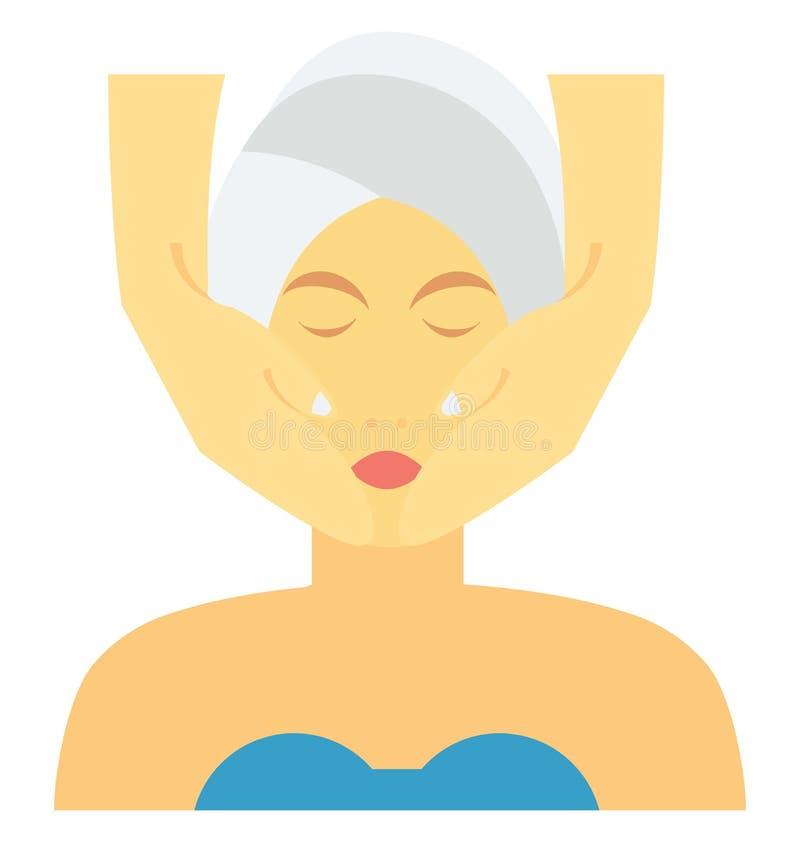 El Facial aisló el special editable del icono del vector para los proyectos de la belleza y del balneario, ilustración del vector