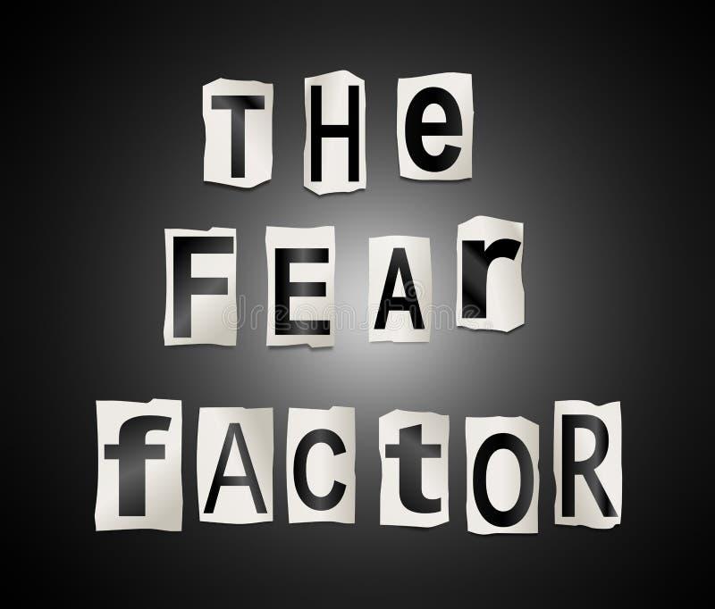 El factor del miedo ilustración del vector