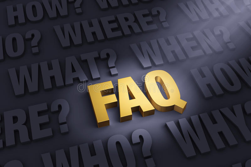 El FAQ ilustración del vector