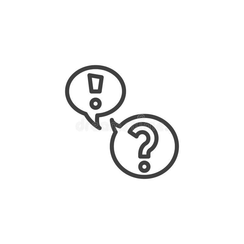El FAQ, las preguntas y las respuestas alinean el icono ilustración del vector