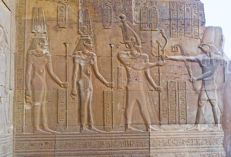 El faraón y dios Horus fotografía de archivo libre de regalías