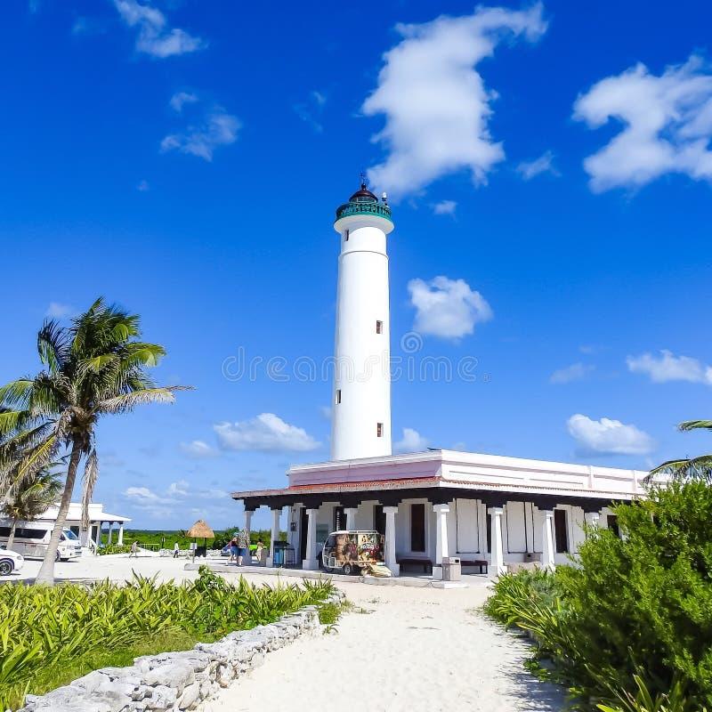 El Faro Celerain Lighthouse Punta Sur, Cozumel, Mexico royalty free stock images