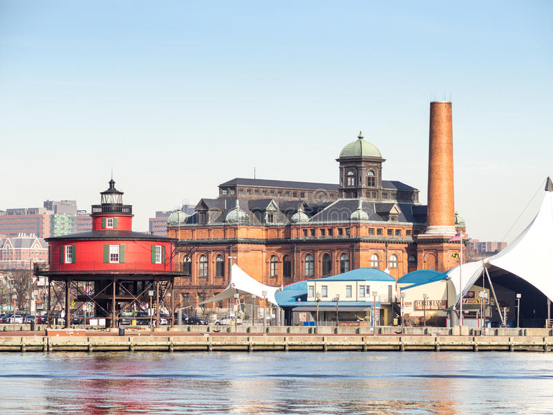 El faro de Baltimore imágenes de archivo libres de regalías