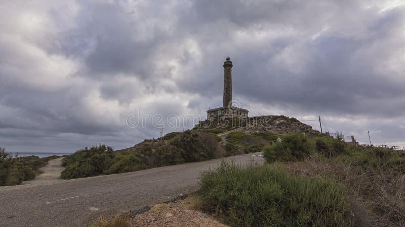 EL Faro de Cabo de Palos Murcia Spain Europe - el faro de Cabo de Palos fotos de archivo libres de regalías