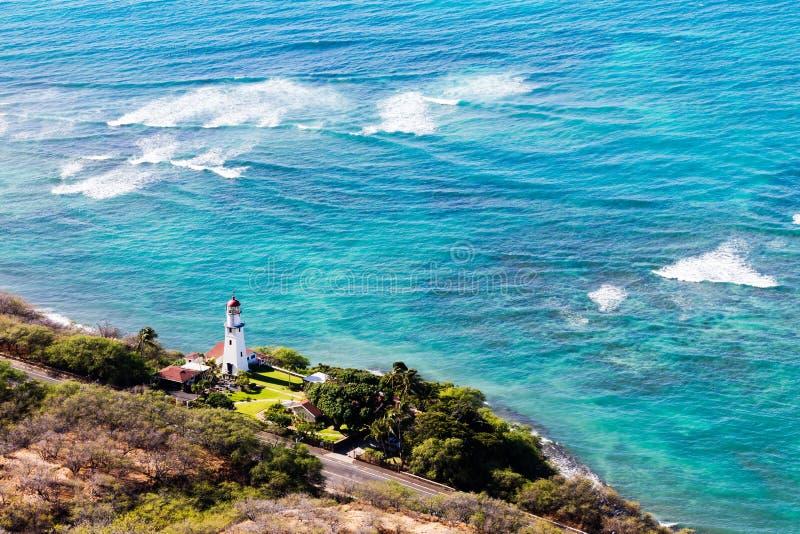 El faro de Diamond Head, Oahu, Hawaii fotografía de archivo libre de regalías