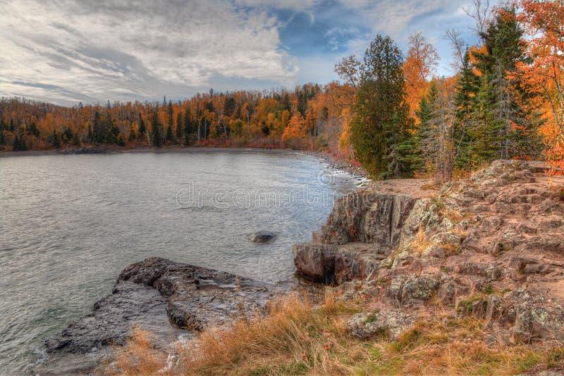 El faro de Splitrock es un parque de estado popular durante todas las estaciones imagenes de archivo