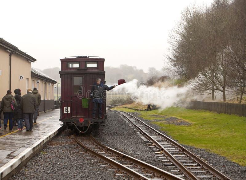 El ferrocarril de la herencia de los faros de Brecon imágenes de archivo libres de regalías