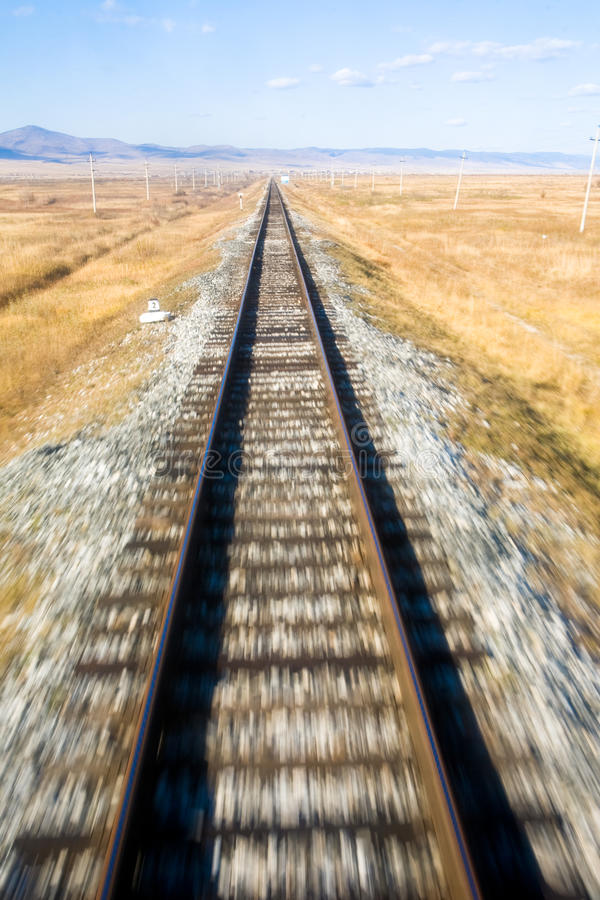 El ferrocarril transiberiano imagen de archivo