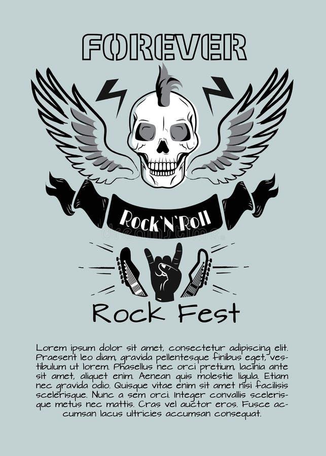 El Fest del rollo de la roca n Vector para siempre el ejemplo ilustración del vector