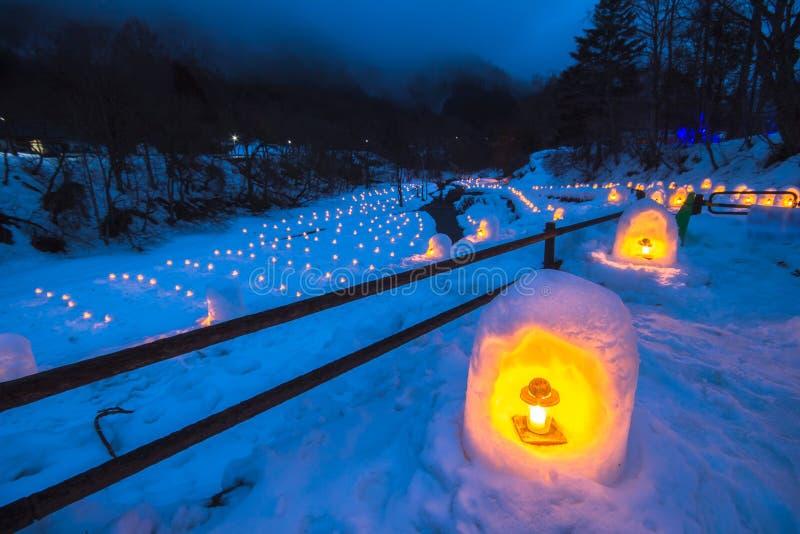 El festival de Yunishigawa Kamakura en Nikko en Japón foto de archivo libre de regalías