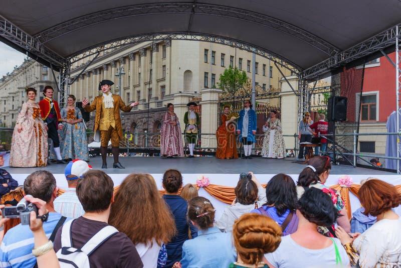 El festival internacional juega sobre la vida de la nobleza de Moscú imagen de archivo