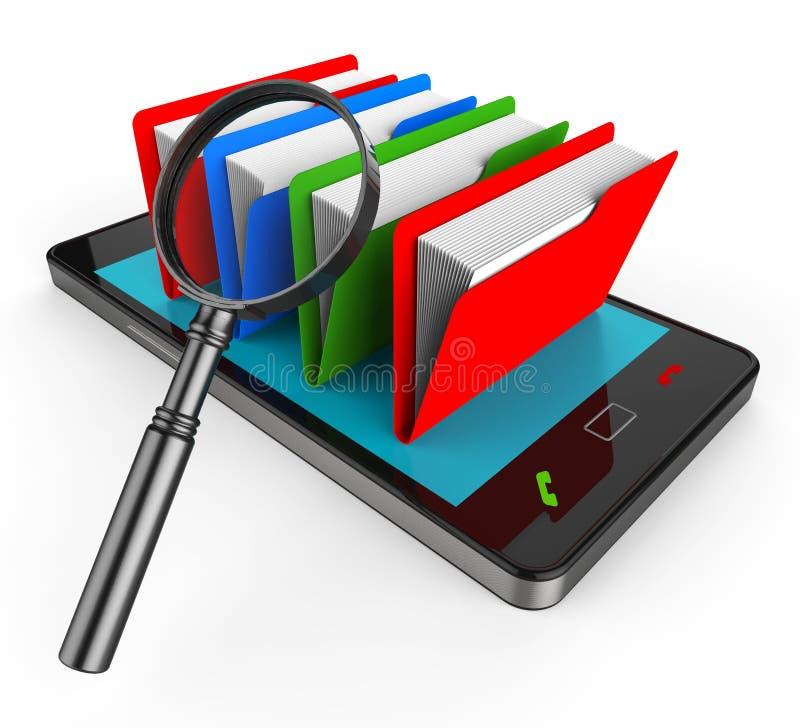 El fichero de la búsqueda en línea significa el sitio web y la administración libre illustration