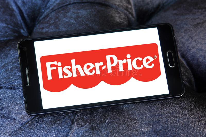 El Fisher-precio juega el logotipo del fabricante fotos de archivo libres de regalías