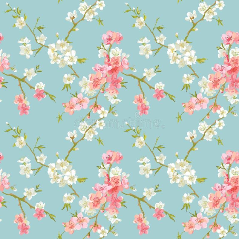 El flor de la primavera florece el fondo libre illustration