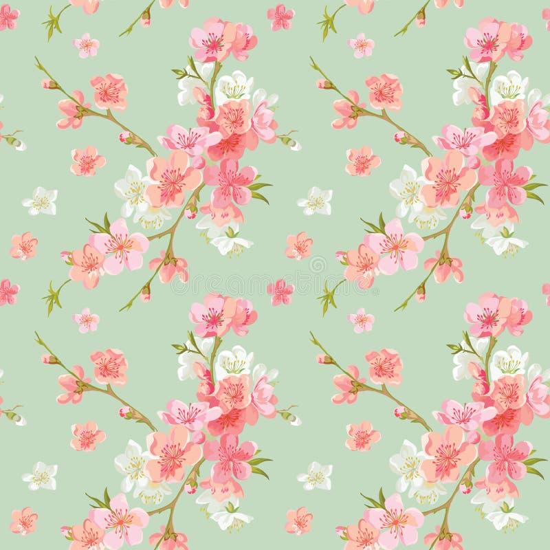 El flor de la primavera florece el fondo ilustración del vector