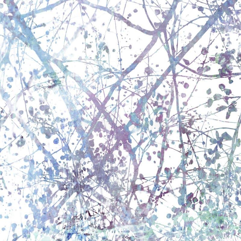 El flor enredado ramifica extracto del arte imagen de archivo libre de regalías