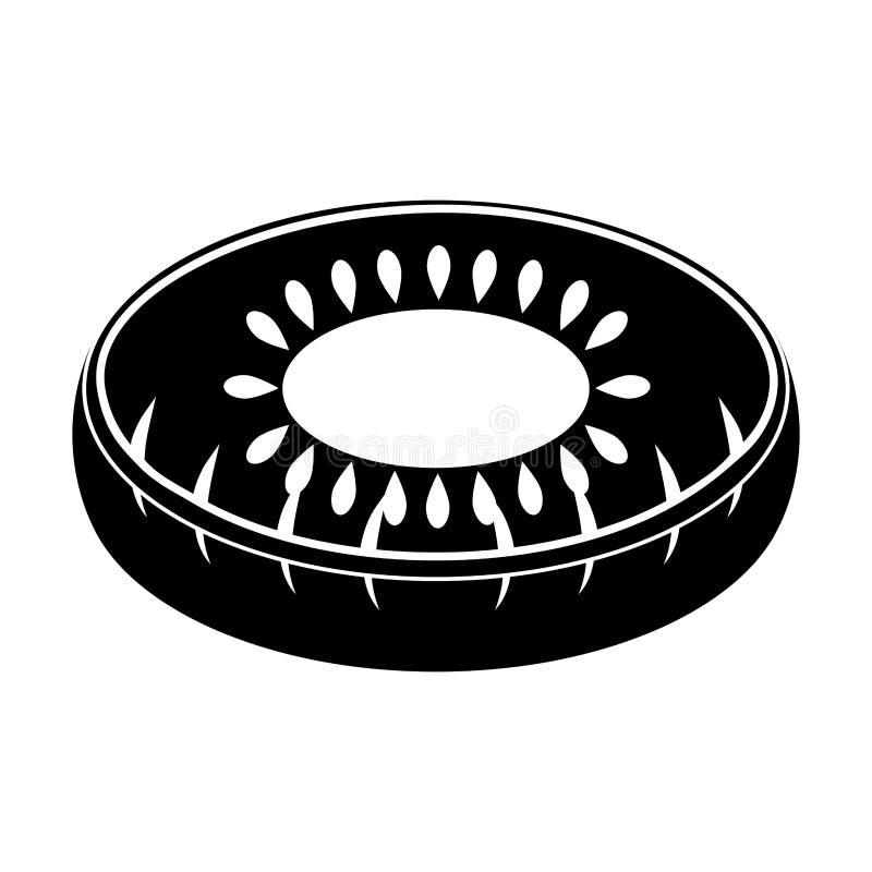 El flotador aislado de la piscina formó el icono del kiwi libre illustration