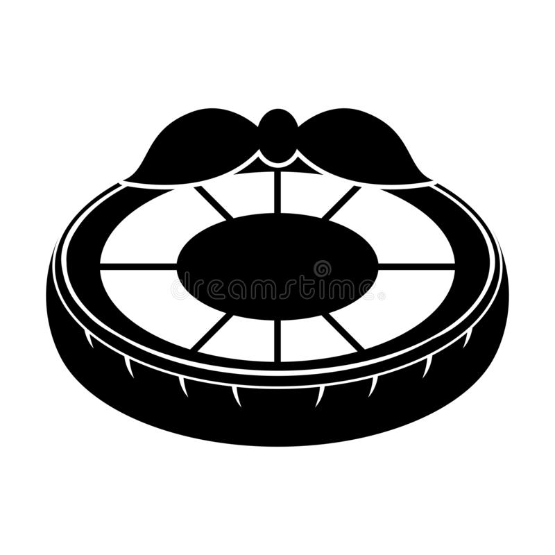 El flotador aislado de la piscina formó el icono del limón ilustración del vector