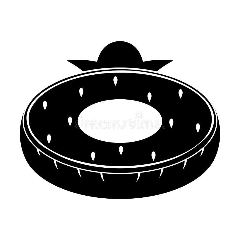 El flotador aislado de la piscina formó el icono de la fresa ilustración del vector