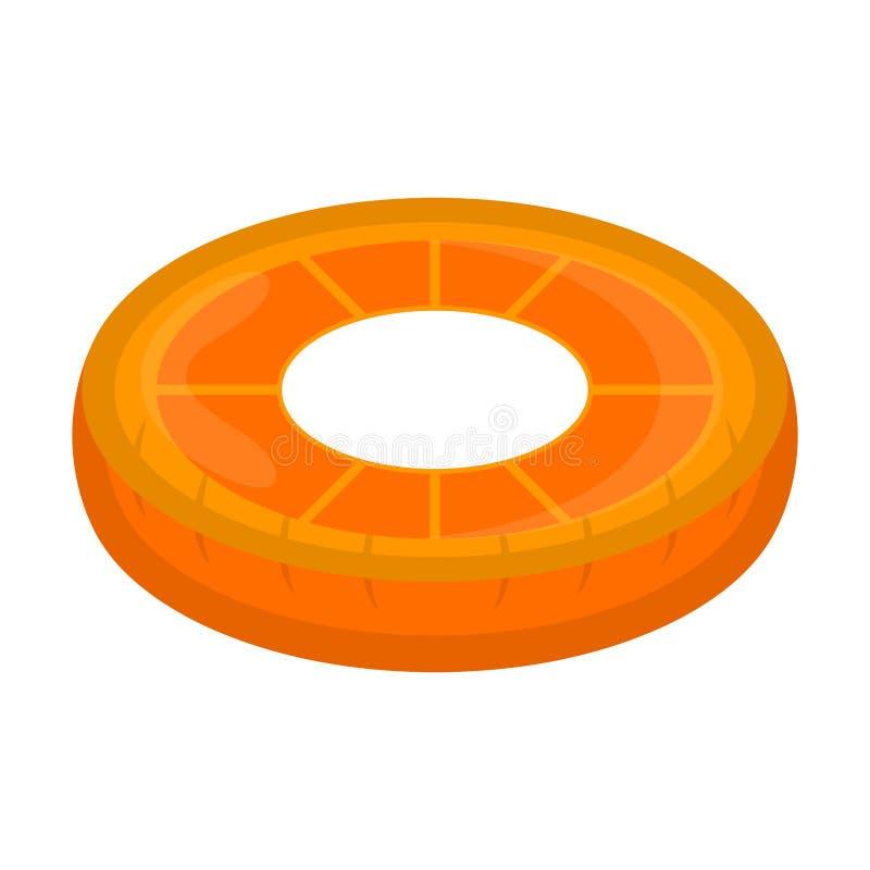 El flotador aislado de la piscina formó imagen anaranjada stock de ilustración