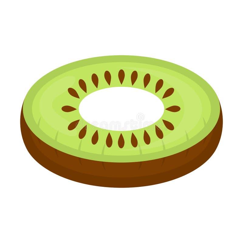 El flotador aislado de la piscina formó imagen del kiwi stock de ilustración