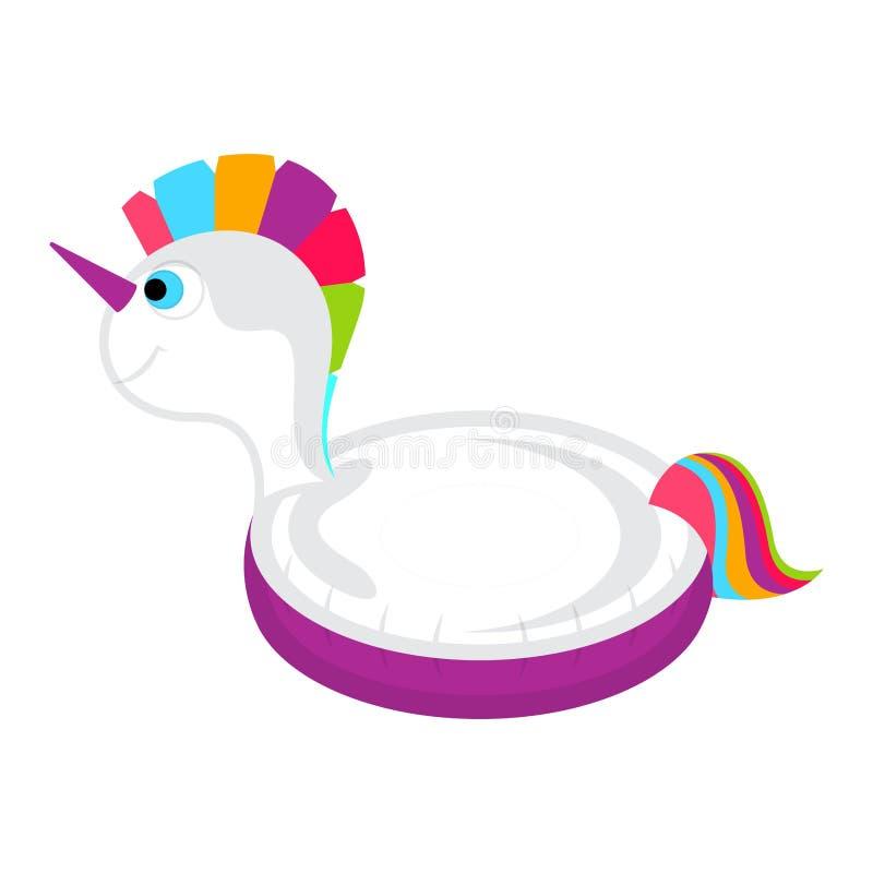 El flotador aislado de la piscina formó imagen del unicornio stock de ilustración